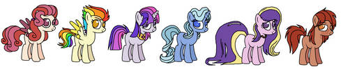 Mane 6 (My Style of the Mane 6) by SomeCoconut