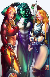 Others 3 Marvel girls  with Colorssss by Stormin by NormanWong