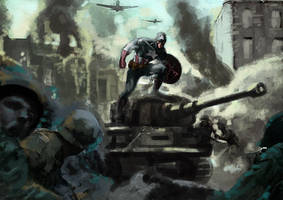 Captain America at War by adr-ben