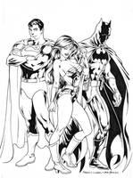 DC Trinity - Inks by adr-ben