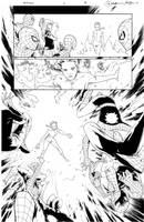 Inks - Spider-Man and X-men4 p16 by RB Silva by adr-ben