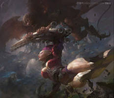 The monkey War by fengua-zhong