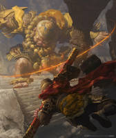 Rage Of the monkey by fengua-zhong
