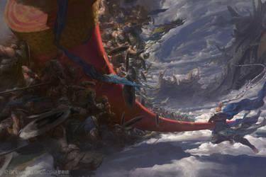 Monkey War by fengua-zhong