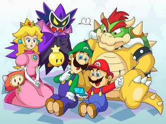 super mario dream team bros