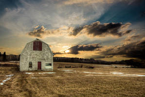 Sunrise this morning in Boudreau Quest, NB, CANADA by Witch-Dr-Tim