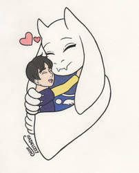 Chiro and Toriel by IFADEU337