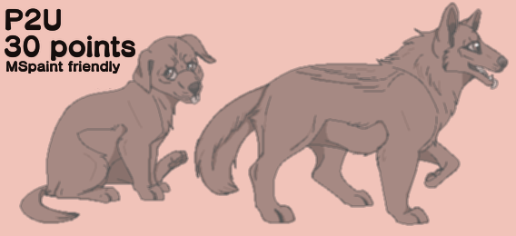 P2U Puppy Lineart Bundle by CloudSplicer