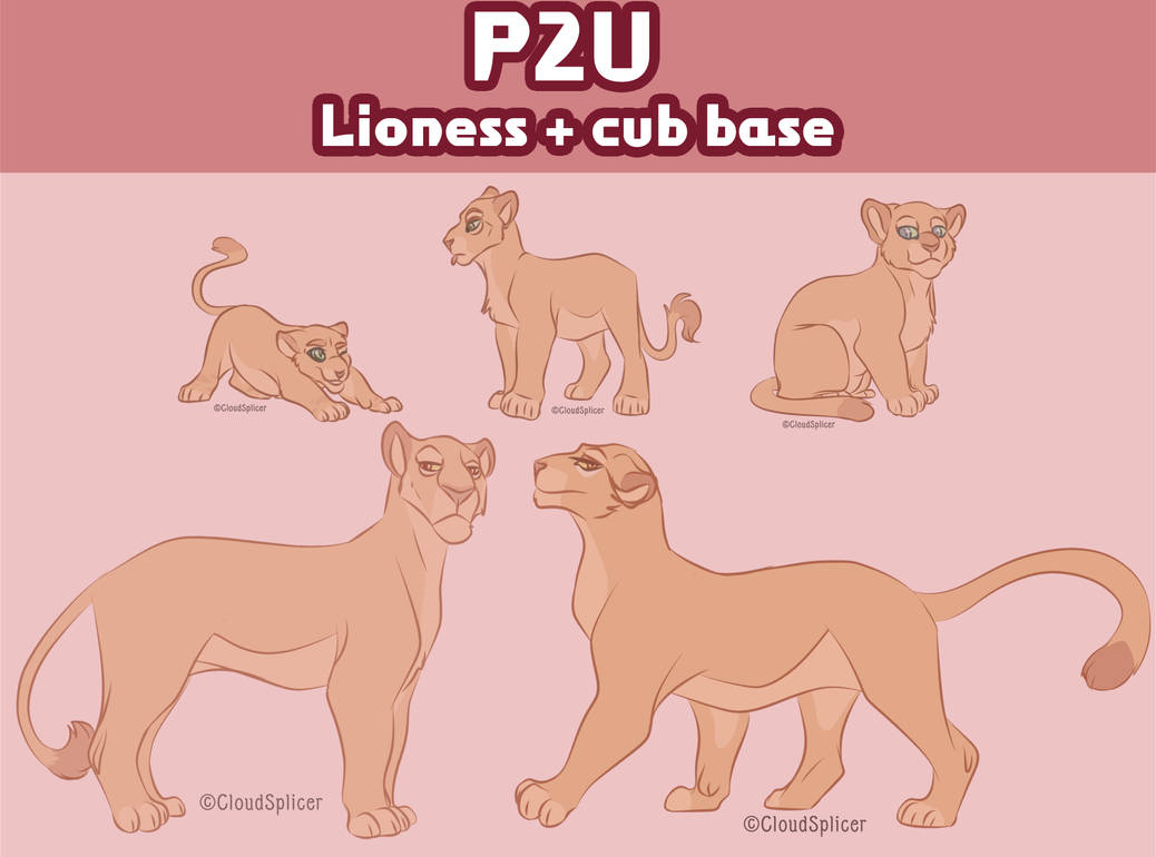 Lioness + Cub Base [P2U] by CloudSplicer