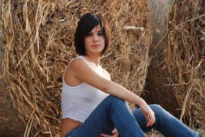 Sitting on Hay 1 by Chordewa