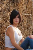 Sitting on Hay 3 by Chordewa