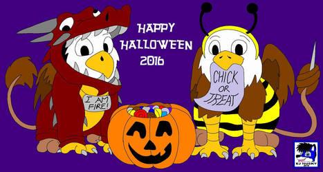 Baby Gryphon's Halloween by EJHusky
