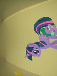 Ponybrella Panel #1: Twilight Sparkle and Spike by chotii