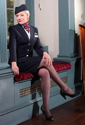 British Airways Stewardess by Count-Phoenix