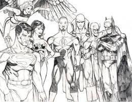 Justice League pencils by peetietang