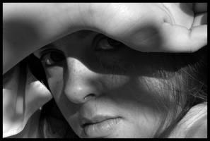 self portrait sunlight 2 by ShadowsGrnEyes