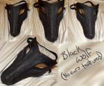 Black Wolf Mask by ShadowsGrnEyes