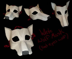 White Wolf Mask by ShadowsGrnEyes