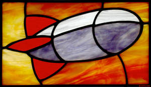 Stained Glass Blimp by bigblued