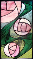 CRM Roses Stained Glass by bigblued