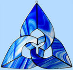 Stained Glass Triquetra by bigblued