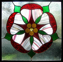 Stained Glass English Rose by bigblued