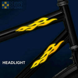 Flame reflective decals by bigblued