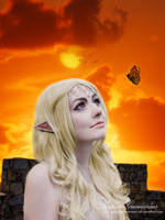 Portrait of a Elfen Lady at Sunset by RogerioGuimaraes