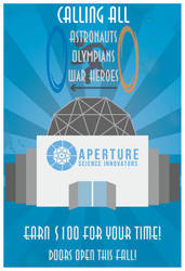 Aperture Poster by RadioactiveFlowers