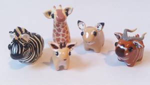 My miniature safari: Grass-eaters by RoOsaTejp