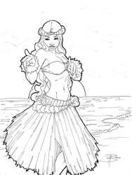 da Hawaiian kine of sexy lady by FooRay