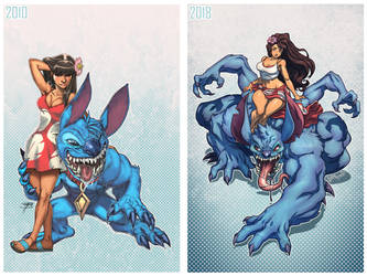 Lilo and Stitch 2010 2018 Side by Side by FooRay