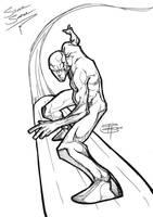 Silver Surfer_gel pen drawing by FooRay