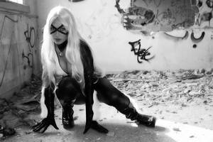 BLACK and WHITE CAT by Giorgiacosplay