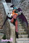 Morrigan Vampire Savior Darkstalkers - stairs by Giorgiacosplay