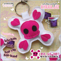 Love Me Not Skull Accessory by shiricki