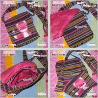 Mad Cat Bag Blue Stripes by shiricki