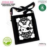 kyaaa.biz - Pirate Bunny Organic Tote Bag Shopper by shiricki