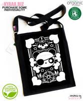 kyaaa.biz - Pirate Panda Organic Tote Bag Shopper by shiricki