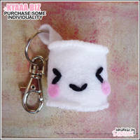 Bag Charm - Marshmallow Keychain by shiricki