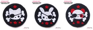 Pirate Patches - Cat, Bunny, Panda by shiricki