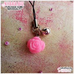 Charm - Cell Phone - Rose by shiricki