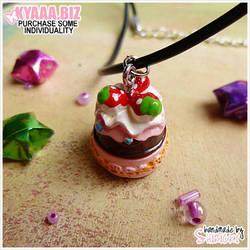 Necklace - Strawberry Cake by shiricki