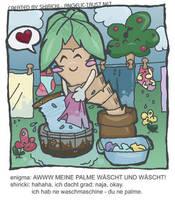 The washing palm tree by shiricki