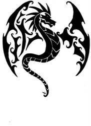 Tribal Dragon by vlindertje235