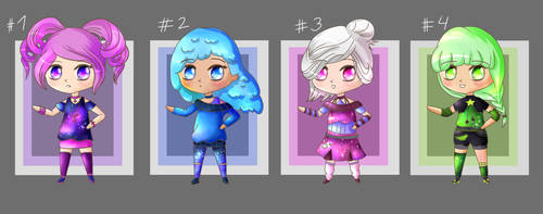Galaxy Chibi Adopts 2 - Cheap (CLOSED) by carolmoded