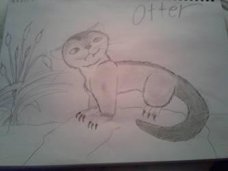 Ark Otter Sketch by kittykc1997mcmlp