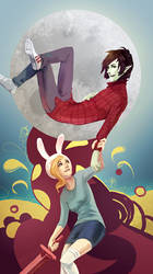 Fionna and Marshall Lee by Kurai-Kaze