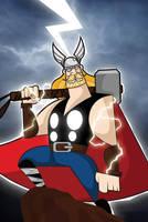Behold...The God of Thunder by kungfumonkey