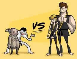 Daniel san vs. Cobra Kai by kungfumonkey